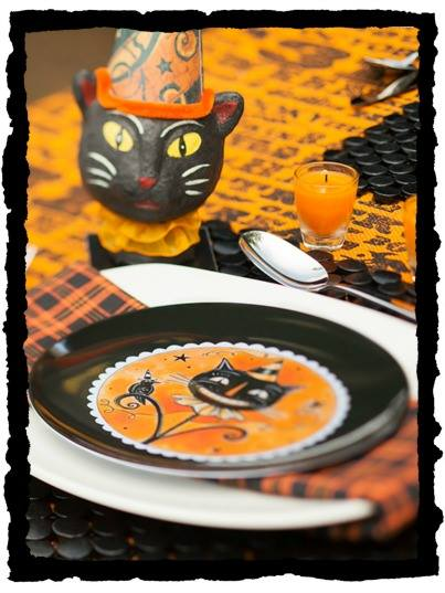 Black Cats Tablescape