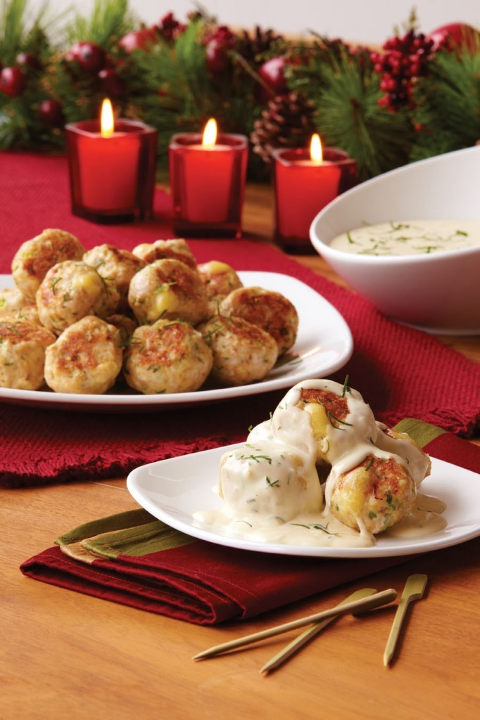 Turkey Meatballs with Tarragon Sauce