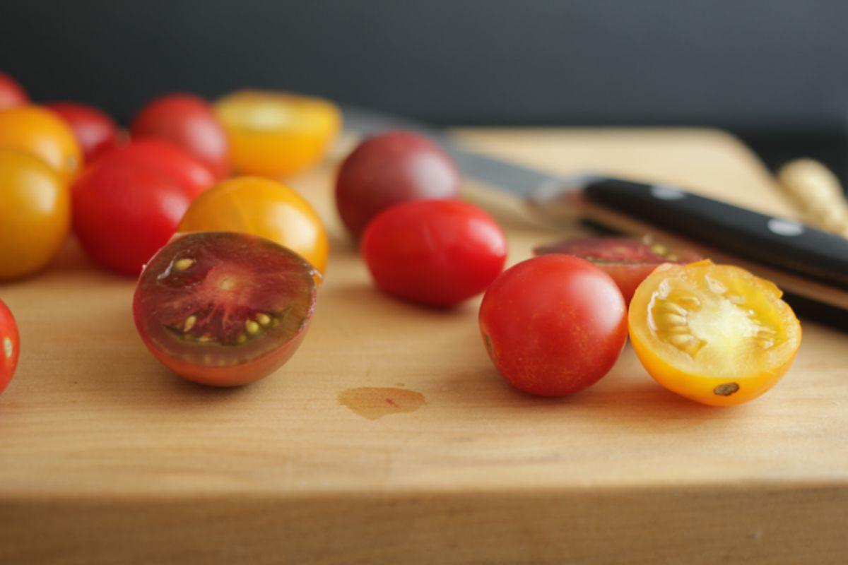 Corn and Tomato salad with Balsamic Glaze