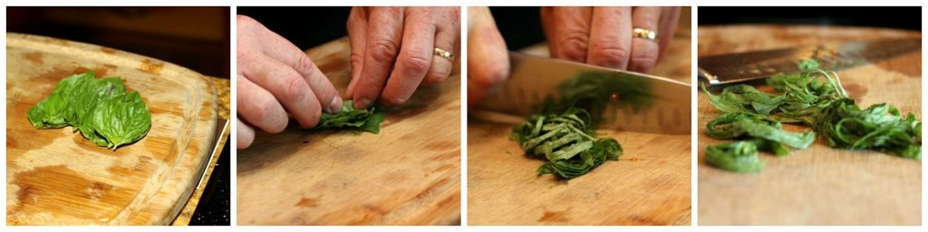 How to Chiffonade Basil by Dinner4Two