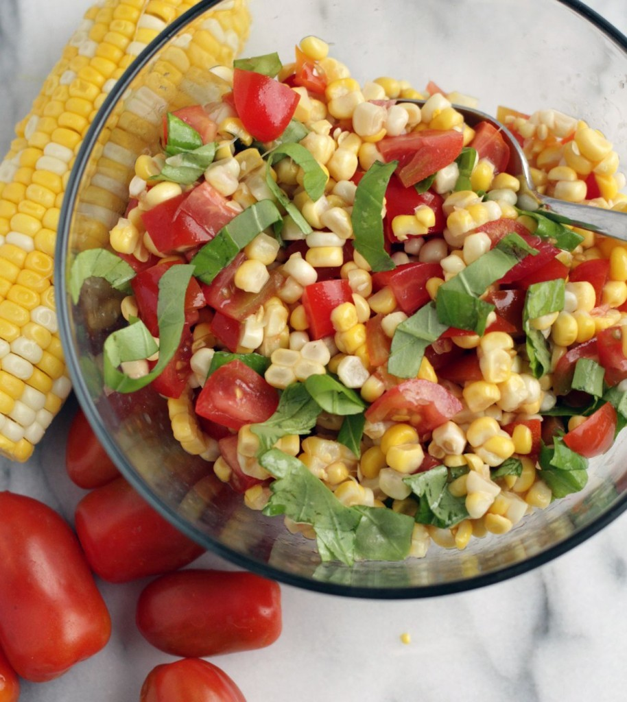 Corn and Tomato Salad with Balsmaic Glaze