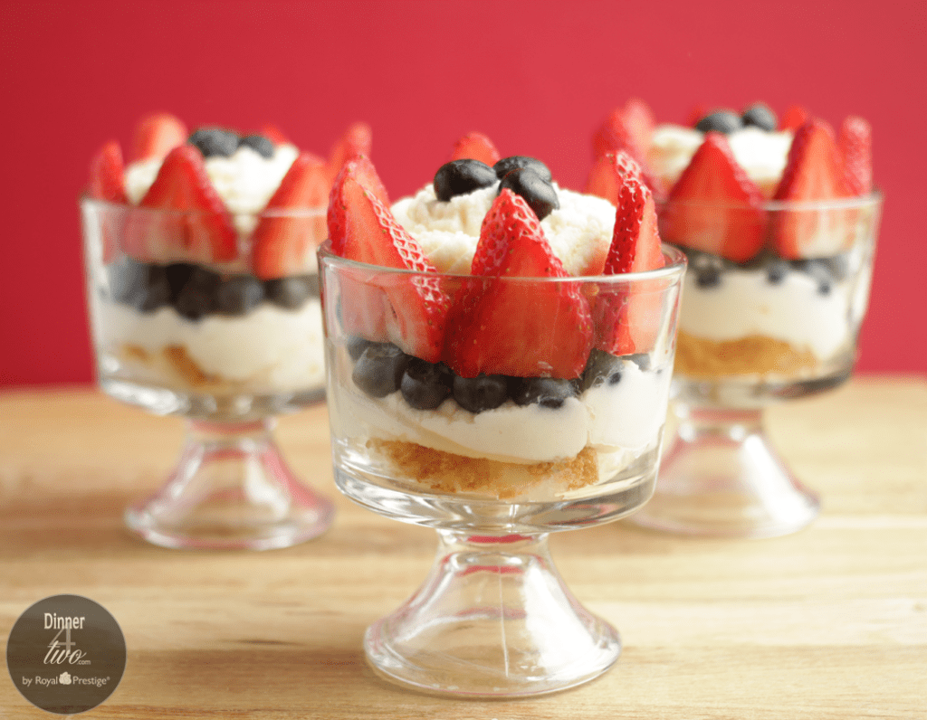 Red, White and Blue Mini Berry Marscapone Trifle