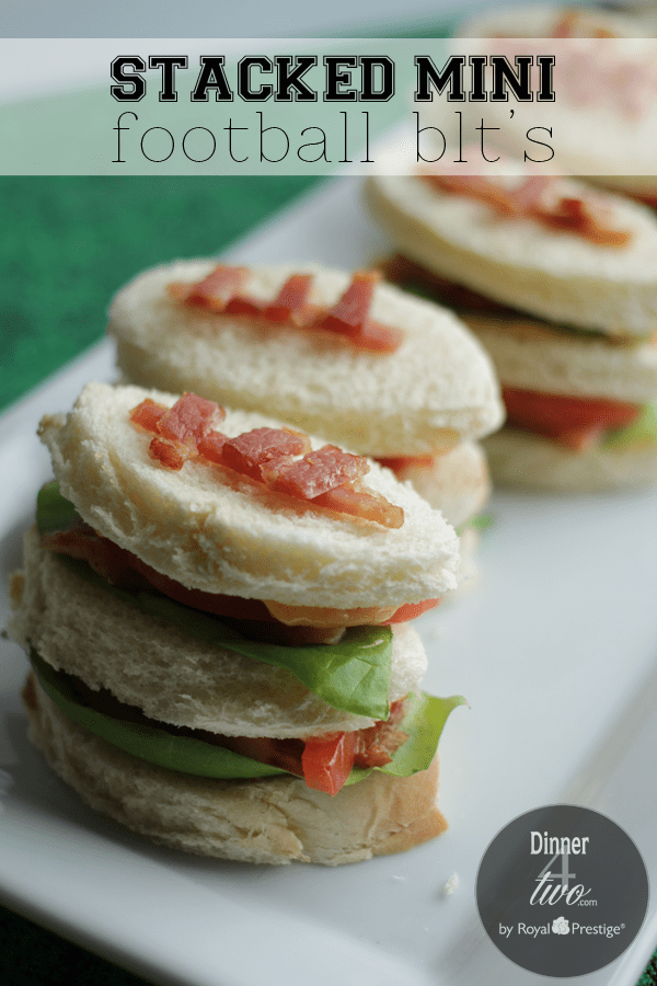 Mini Club Football Sandwiches