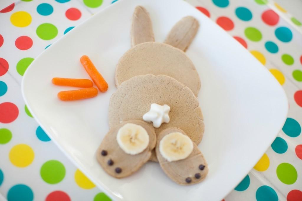 Carrot Cake Bunny Pancakes