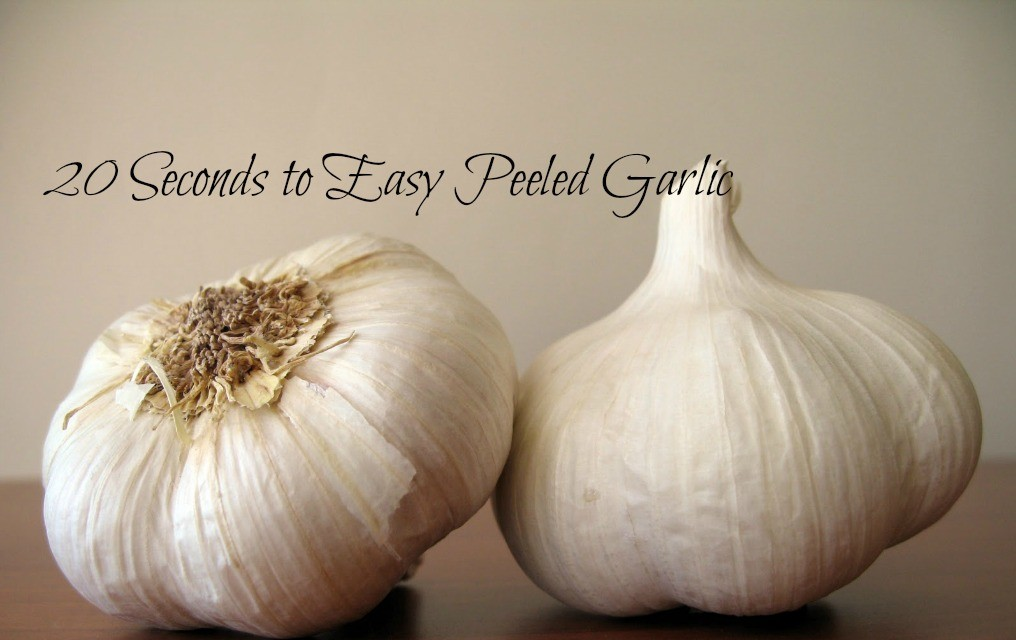 20 Seconds to Easy Peeled Garlic
