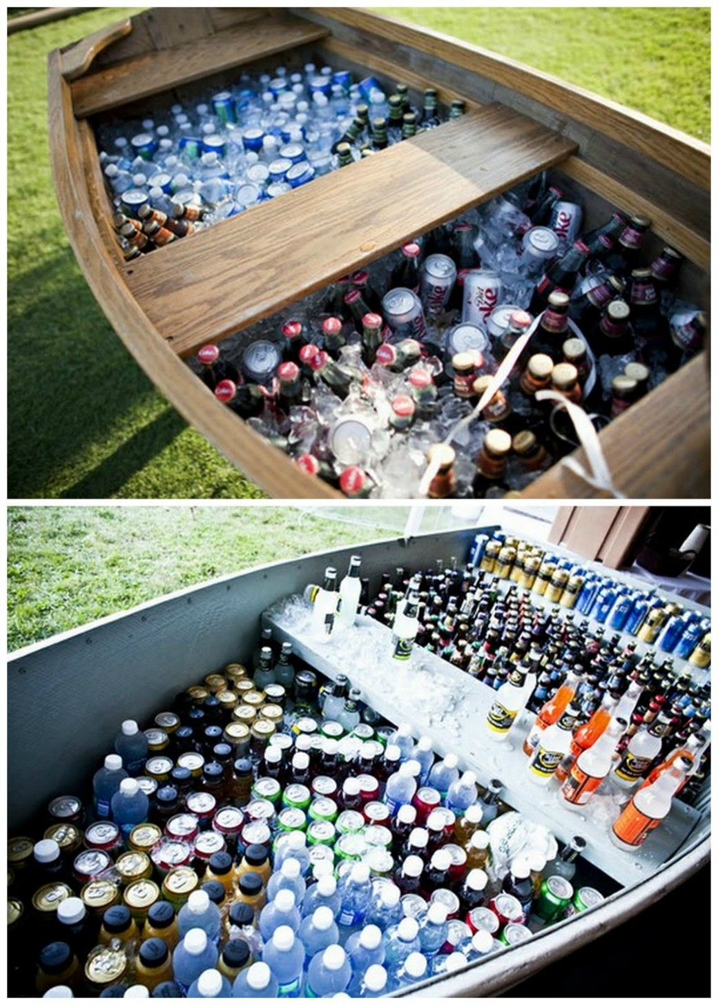 DIY Outdoor Wedding Reception Beverage Station - Dinner 4 Two