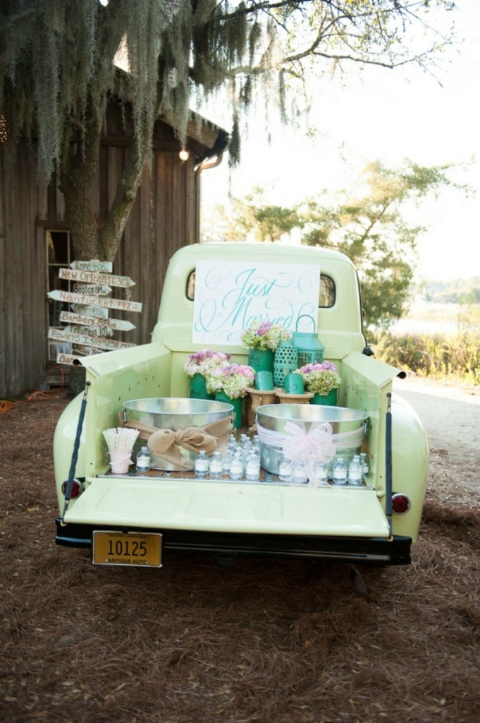Diy Outdoor Wedding Reception Beverage Station Dinner 4 Two