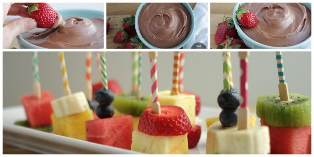 Fruit Kabobs with Orange Chocolate Fruit Dip