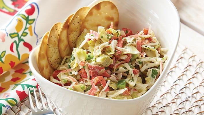 Artichoke Crab Salad