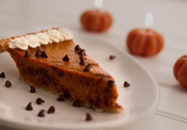 Chocolate Chip Pumpkin Pie - Dinner 4 Two