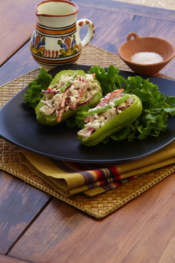 Tuna Stuffed Pears