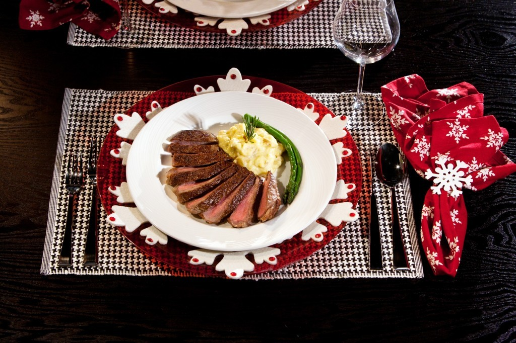 Pan Seared Rib Eye Steak