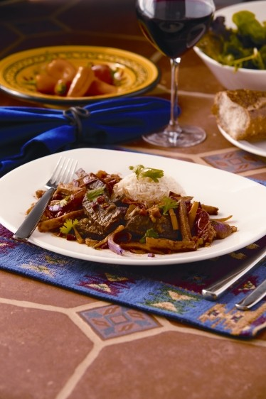 Beef Stir-Fry with White Rice