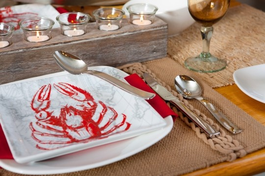 New England Tablescape by V. Renee