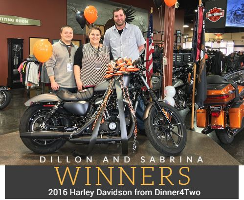 2016 Dinner4Two Harley Davidson Winner
