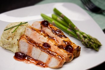 Cranberry Glazed Pork Chops