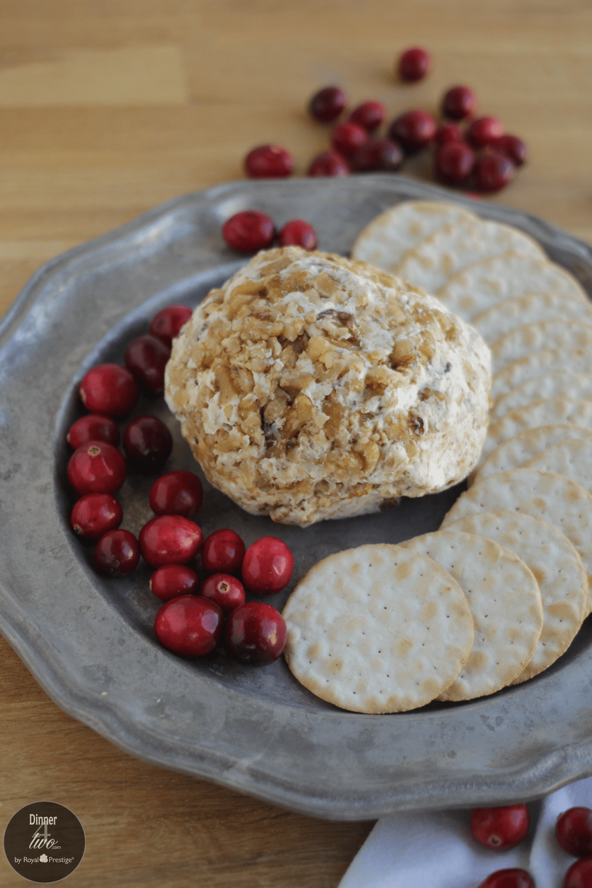 Gorgonzola Cranberry and Walnut Cheese ball