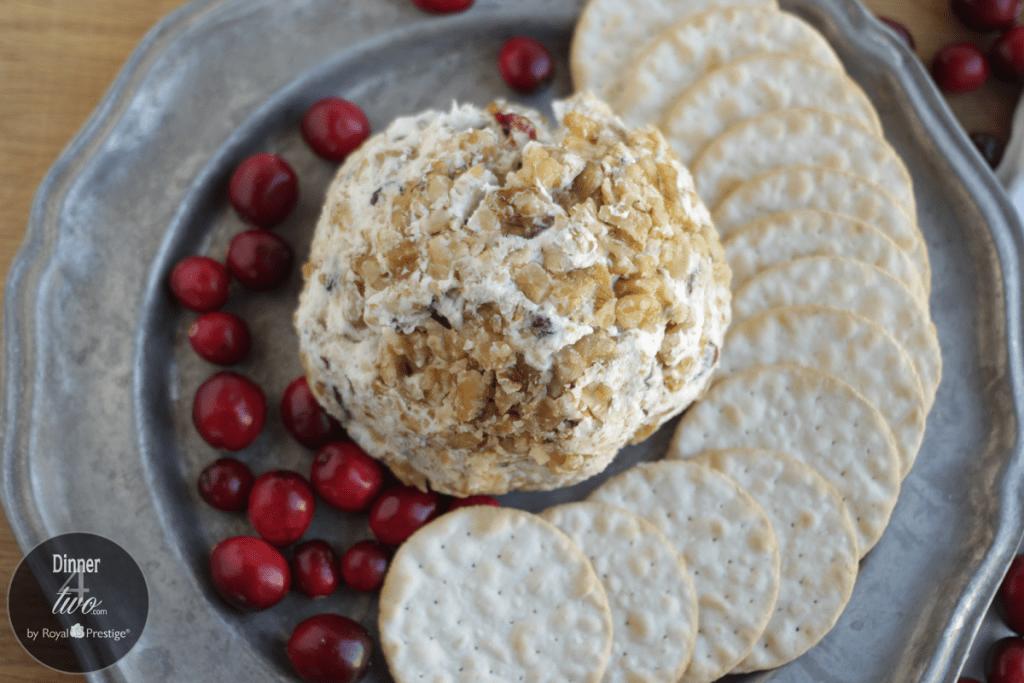 Gorgonzola, Cranberry and Walnut Cheese Ball