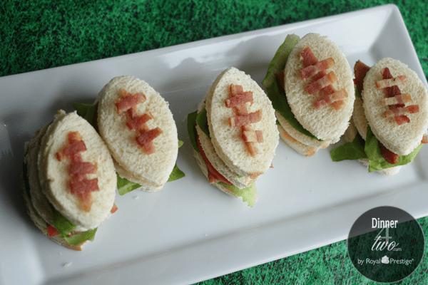 Dinner4Two Mini Club Football Sandwiches