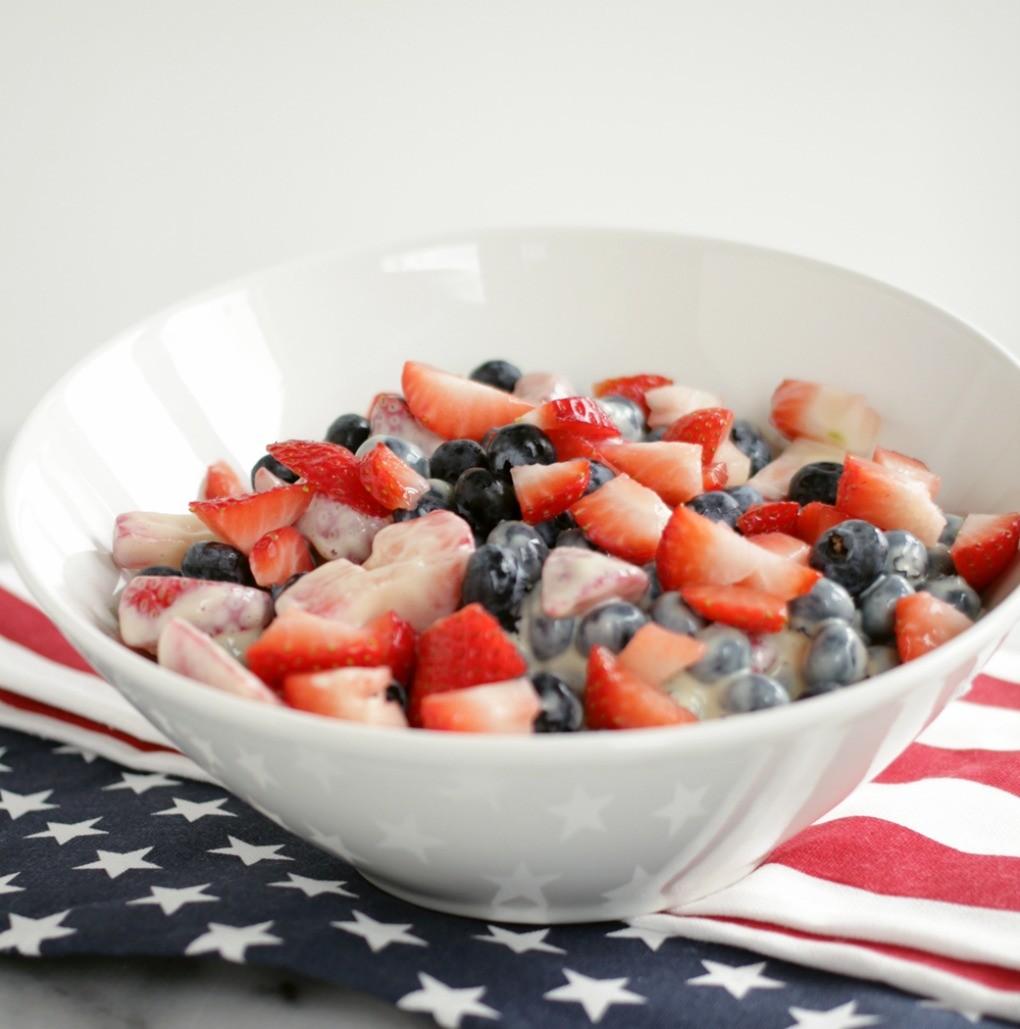 Dinner4Two Vegan Vanilla Cream Summer Berry Salad