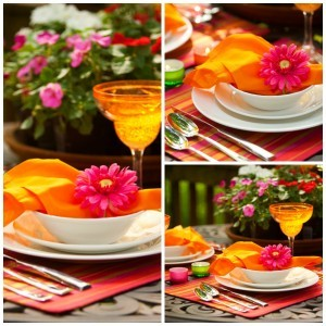 Dinner 4 Two sun-kissed table scape by V. Renee to celebrate Mother's Day
