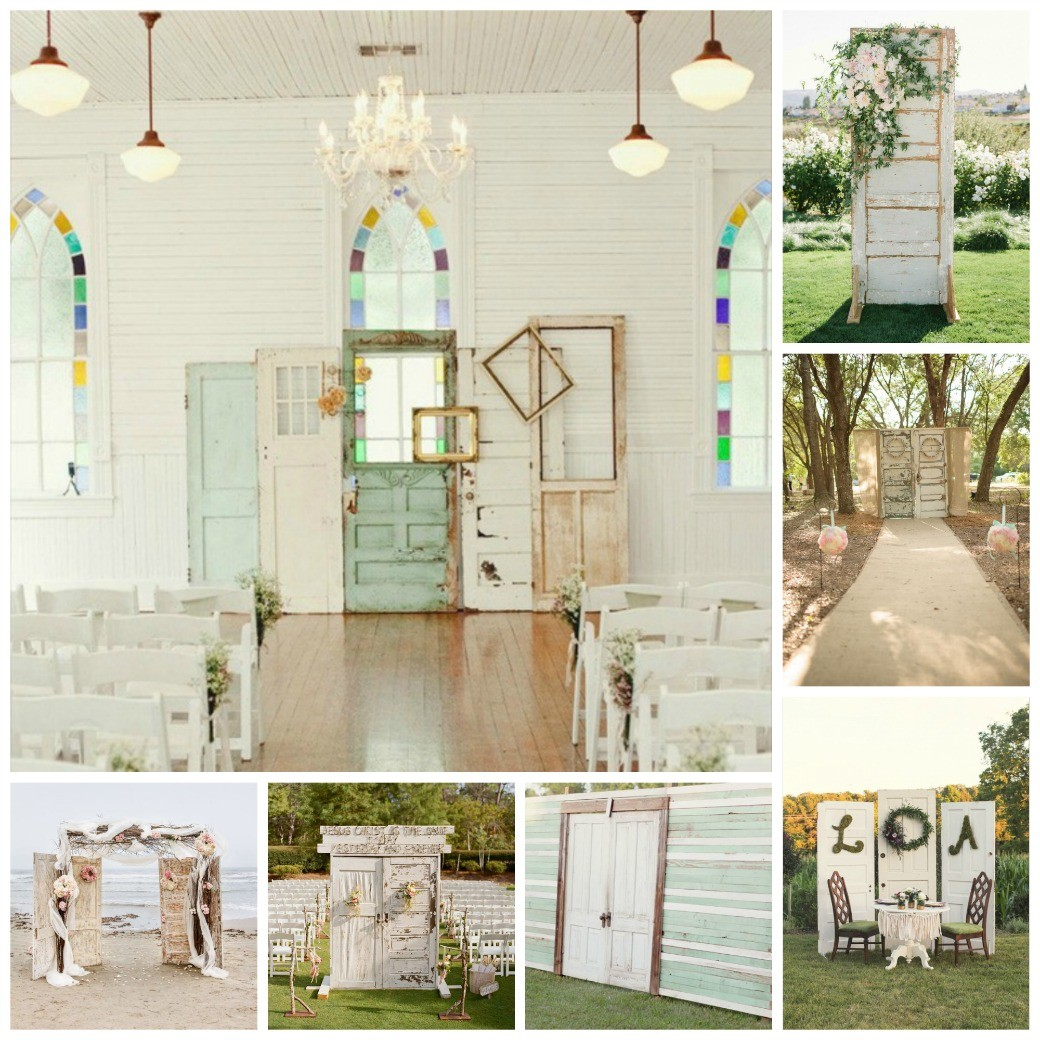 Wedding Backdrops Vintage Doors Dinner 4 Two