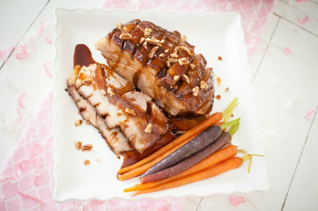 Maple-Balsamic-Ginger-glazed-Ham-Dinner-4-Two