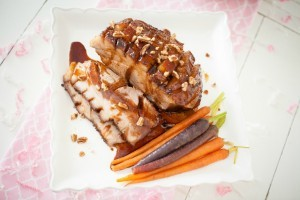Maple Balsamic Ginger Glazed Ham