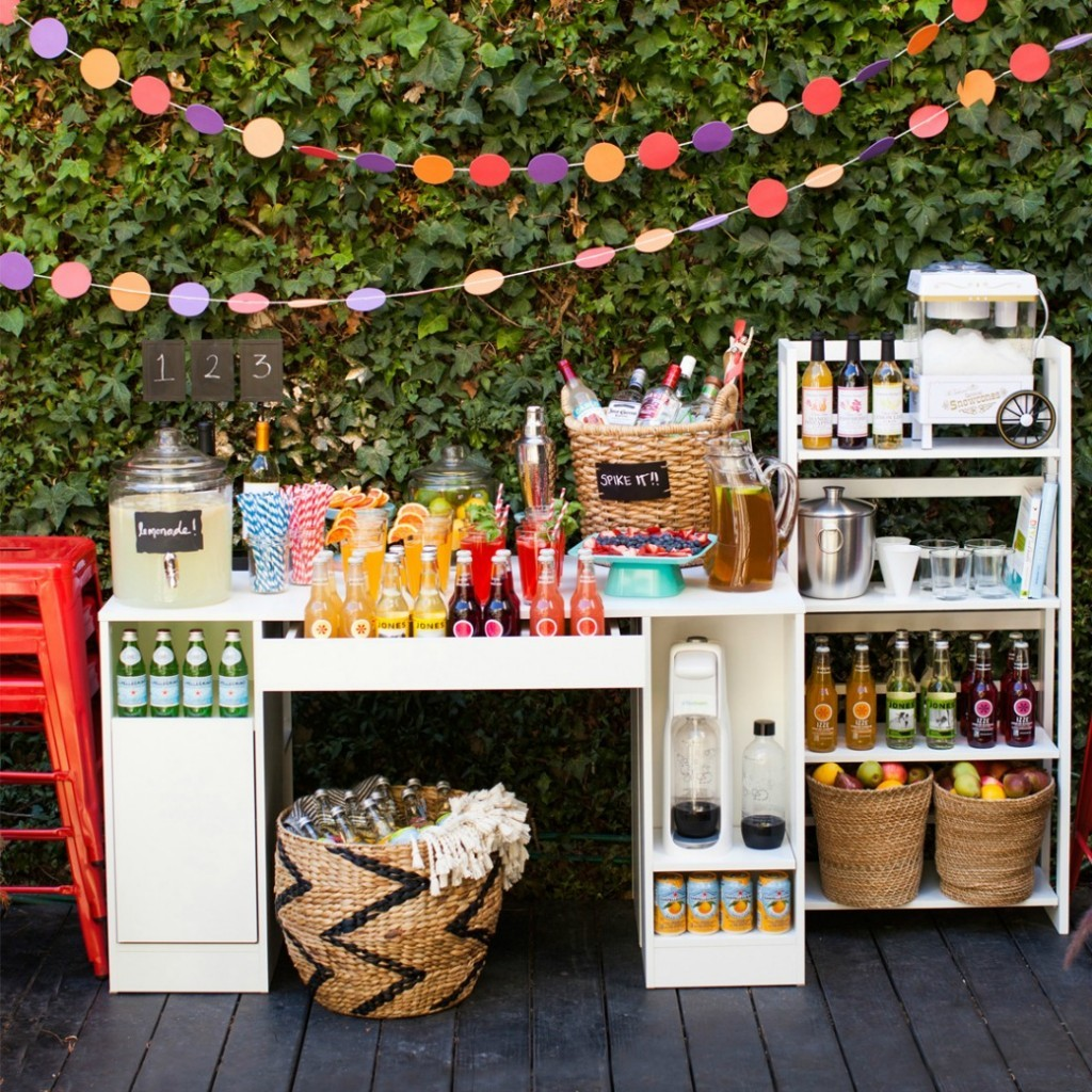 Diy Backyard Wedding Ideas: DIY Outdoor Wedding Reception Beverage Station
