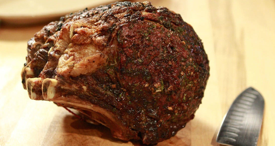 Standing Prime Rib Roast Cooked