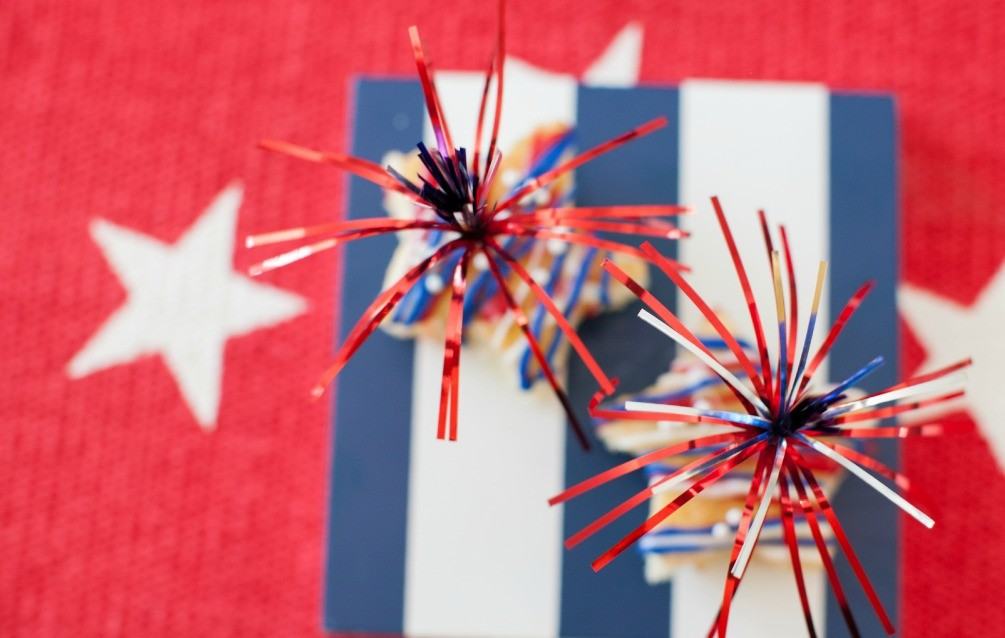 Old Glory Star Cupcakes
