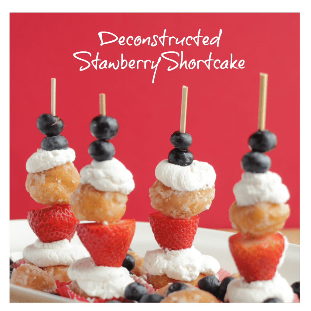 Deconstructed Strawberry Shortcake