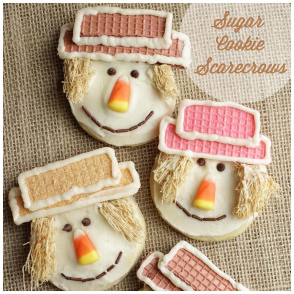 Sugar Cookie Scarecrows