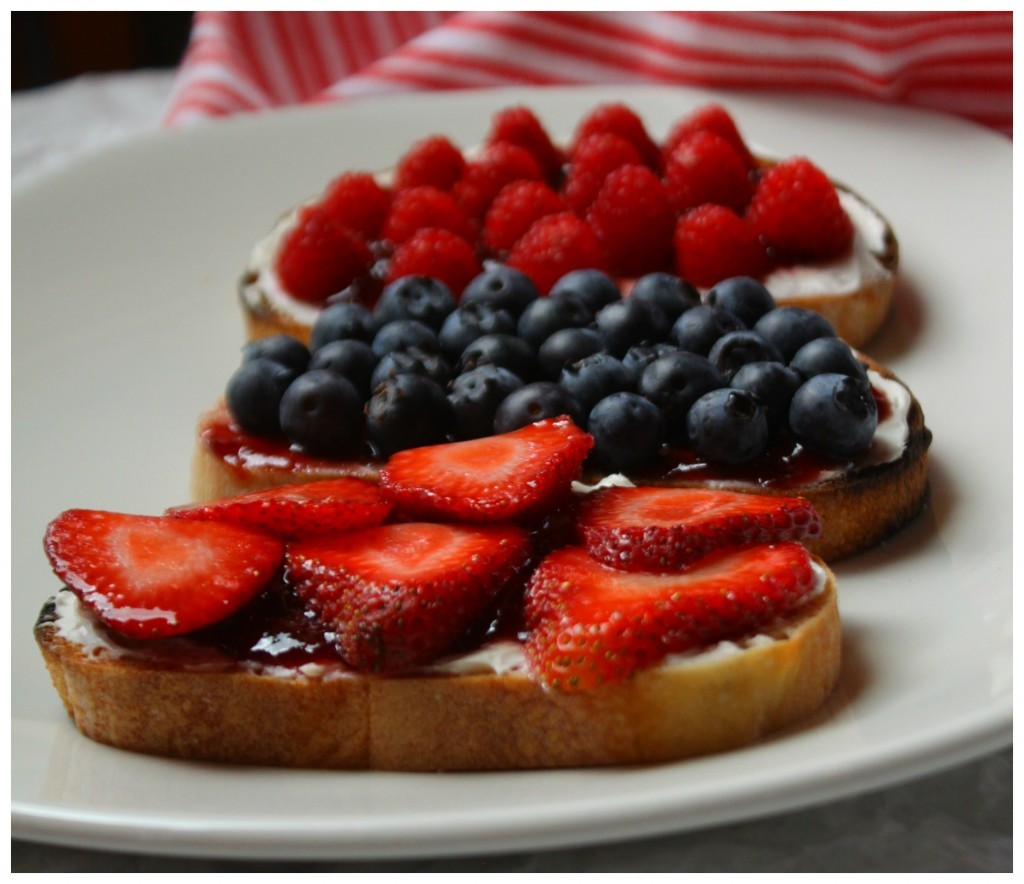 Breakfast, Berries Whipped Cream Cheese and Toast
