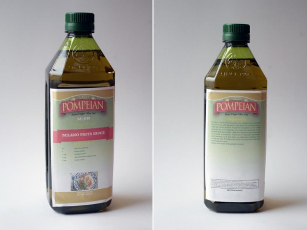 Custome Olive Oil Label