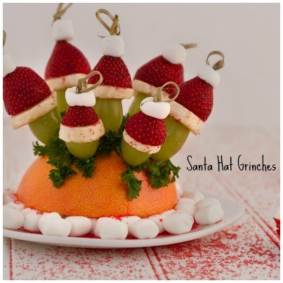 Grinch Santa Hat Appetizers