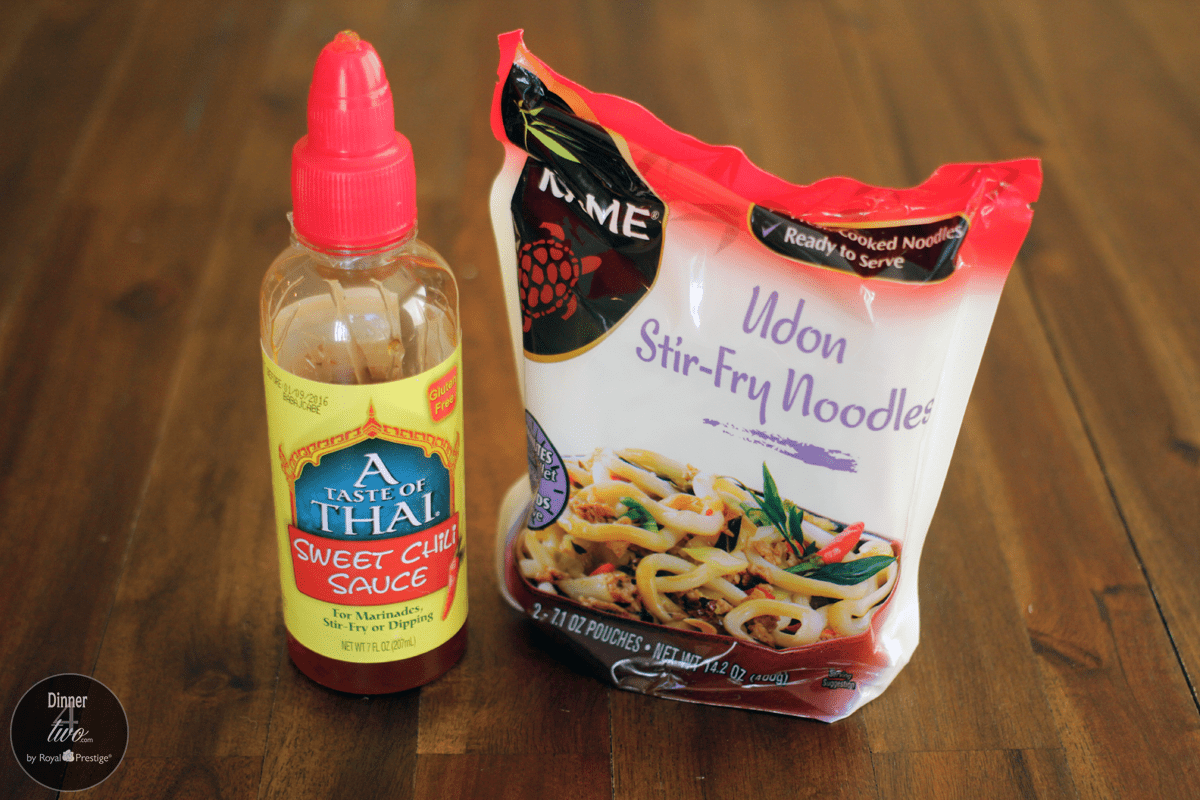 Sweet Thai Chili Sauce and Udon Noodles Dinner4Two