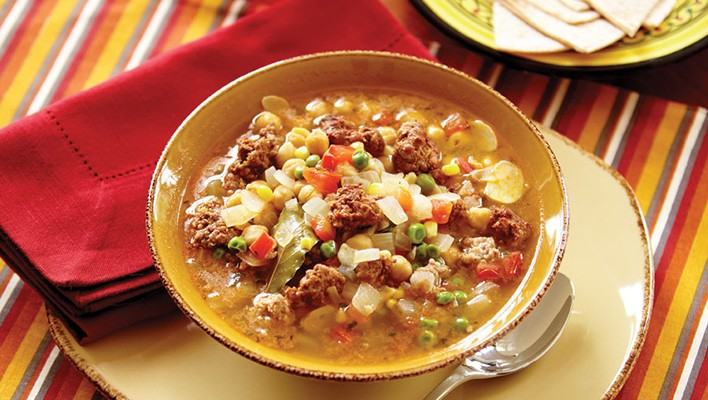Garbanzo and Sausage Soup