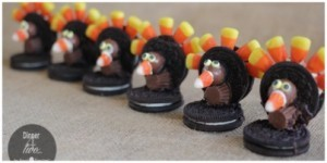 Chocolate Oreo Turkey Cookies